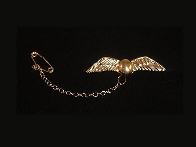 9CT YELLOW GOLD 'WINGS' BROOCH