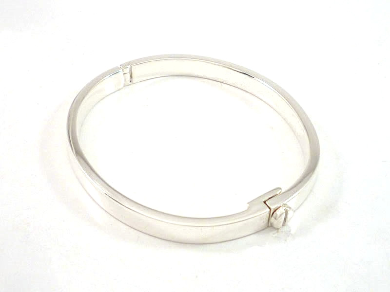SILVER, SCREW AND HINGE BANGLE