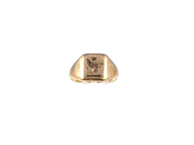 (12.1) 9CT YELLOW GOLD, SEAL SIGNET RING