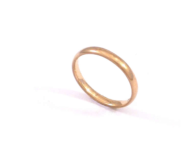 9CT ROSE GOLD WEDDING RING (1)