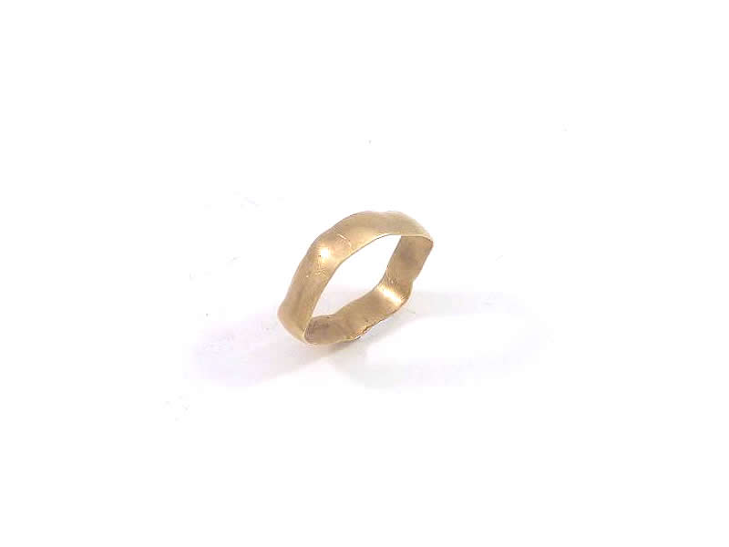 9CT YELLOW GOLD, GENTS WEDDING RING (1)