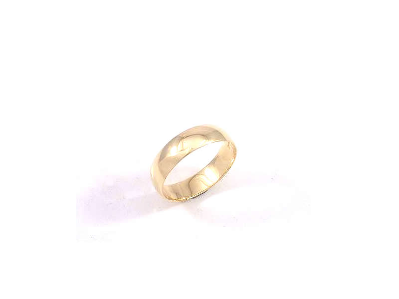 9CT YELLOW GOLD, GENTS WEDDING RING (2)